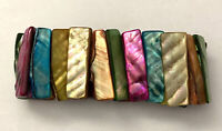 Vintage MOP Multi Color Stretch Mother of Pearl Shell Beaded Colorful Bracelet