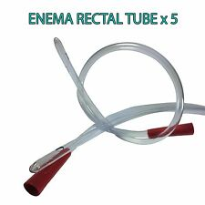 RECTAL ANAL TUBE SUITABLE FOR ENEMAS AND COLONICS - QUANTITY 5