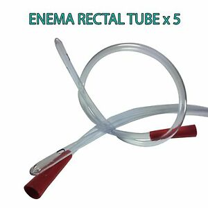 RECTAL ANAL TUBE SUITABLE FOR WATER & COFFEE ENEMAS & COLONICS - QUANTITY 5 AUS