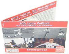 Österreich 5 Euro 2004 Fußball Silber im Miniblister Sonderedition 5€ vergoldet