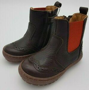 Bisgaard Meri Chelsea Boots Schuhe Kinder Leder Reißverschluss Größe 22 braun
