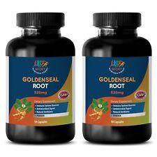 Organic Goldenseal Extract - 520MG GOLDENSEAL ROOT - Antibiotic Capsules - 2Bot