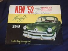 1952 Kaiser Henry J Color Original Brochure Prospekt