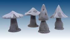 Scotia Grendel 25mm Miniature 4 pcs Gigantic Mushrooms works with Dwarven Forge