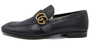 Gucci Brown Quentin Loafers Size US 8.5 Made In Italy