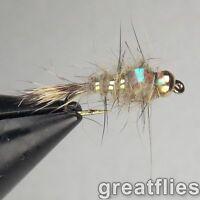 1 dozen (12) - Gold Ribbed Hare's Ear - FLASH BACK - Bead Head