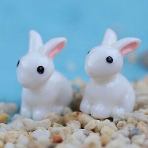 Mini Rabbit Animal Miniature Fairy Garden Decoration Home Crafts Ornament Toys