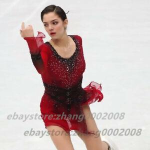 Stylish Ice Skating Dress.Competition Figure Skating Dance Twirling Costume