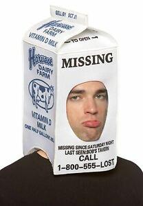 Adult Milk Carton Head Hat One Size Rasta 7068