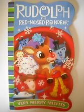 """Rudolph the Red Nosed Reindeer """"Very Merry Misfits"""" Board book  – 2014"""