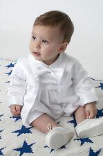Baby Boys Christening Romper Outfit / Christening Romper White