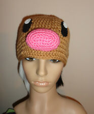 Diglett hat crochet knit cosplay comic con anime character pokemon Dugtrio
