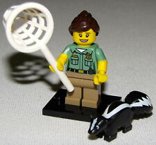 LEGO NEW SERIES 15 ANIMAL CONTROL 71011 MINIFIGURE WITH SKUNK MINIFIG FIGURE