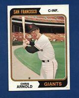 1974 Topps Chris Arnold - Baseball Card #432 San Francisco Giants
