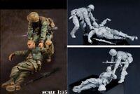 1/35 Resin USMC Fallen Comrade Vietnam War 2 Figures Unpainted Unassembled BL180
