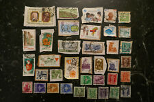 Indian Stamp mixture - old & modern. 37 different stamps. . Unchecked.