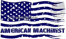 American Machinist,Machinist,Engineer,Mill,Flag,Mill work,Sticker,Vinyl decal