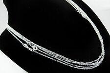 Halsketten ohne Steine aus echtem Edelmetall mit gemischten Themen für Damen