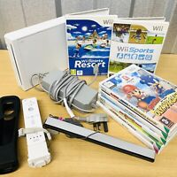 Nintendo Wii Console Bundle 7 Games Mario Wii Sports / Resort & Motion Plus VGC