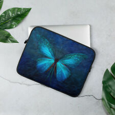 Blue Butterfly Laptop Sleeve Cover Case