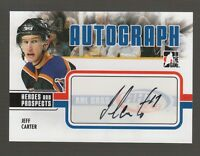 (56682) 2009-10 ITG HEROES and PROSPECTS AUTOGRAPH JEFF CARTER #A-JC