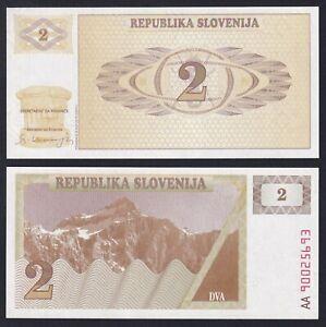 Slovenia 2 tolarjev 1990 FDS/UNC  A-02