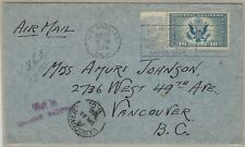 16¢ U.S. Airmail Special Delivery Ce1 1935 La to Canada Not in Special Delivery
