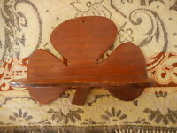 Shamrock Handmade Wood Small Shelf Kitschy Irish Country Eclectic Decorating