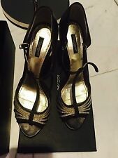 Dolce And Gabbana Classic Hollywood Glam Dance Heels Shoes Pumps Sz41 $1200