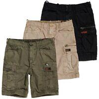 Superdry Shorts - Superdry Parachute Cargo Shorts - Black, Sand, Sage Ripstop