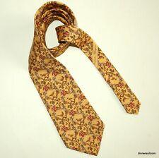 Salvatore Ferragamo Silk Tie Necktie Yellow Hunter Dog Birds & Game 9cm SUPERB