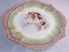 Stunning Antique 1893 Hand Painted Limoges Plate Maiden Cherubs Shaped Gilded