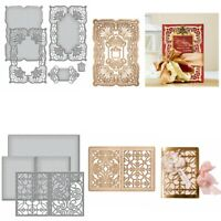 Lace Frame Album Cover Metal Cutting Dies Scrapbooking Stencil Embossing Crafts