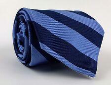 "Robert Talbott Silk Slim Necktie_Blue Tonal Stripes_3 1/4"" X 59"