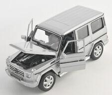BLITZ VERSAN Mercedes G Class silber / silver Welly Modell Auto 1:24 NEU & OVP