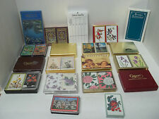 15 Sets In Boxes, Vintage Playing Cards, Hallmark, Congress, Caspari, Hoyle, etc