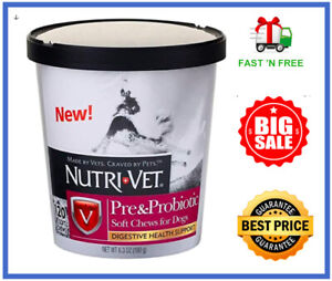 Nutri-Vet Pre and Probiotic Soft 120 Chews for Dogs, Digestive Health - FreeShip