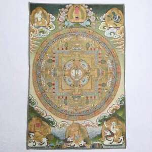 "36"" Tibet Tibetan Cloth Silk Buddhism Mandala '坛城' Tangka Thangka Painting Mural"