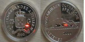 NEDERLANDS ANTILLER for Sydnet 2000 Olympics. Silver proof coin.