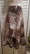 East 5th A-Line Flare Skirt Linen Rayon Size 8 Elastic Waist