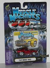 Muscle Machines 1969 Ford Mustang Boss 302 69 Go Fast Pony Car 03-35 1:64