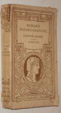GIUSEPPE FINZI MEMORIE AUTOBIOGRAFICHE DI SCRITTORI MODERNI 1°ED.1914 ZANICHELLI