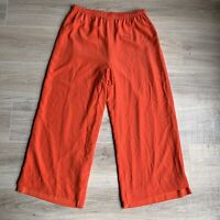 Bonnie Roseman BLT Collection Pants Sz 12 Coral 100% Silk Wide Leg Bottoms Lined