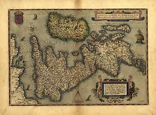 Map of England Wales Scotland UK Reproduction Vintage Antique Old Colour Poster