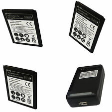 3X 2300MAH BATTERY+CHARGER DOCK FOR Samsung Galaxy S III 3 Mini i8190 Duos S7562
