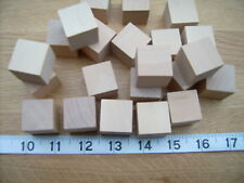 "50x Wood cubes. Wooden cubes / blocks.25mm 1"" BEECH not Birch"