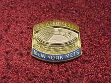 1969 New York Mets World Series Media Press Pin NYM - Baltimore Orioles