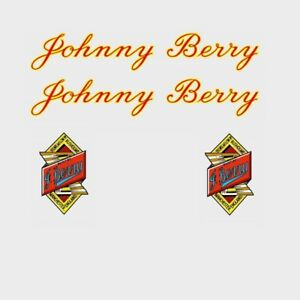 Johnny Berry Bicycle Frame Decals - Transfers - n.500