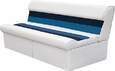 New Deluxe Pontoon Furniture wise Seating 8wd106-1008 Long Bench White/Navy/Blue
