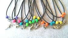 10 DINOSAURS  NECKLACE  PARTY FAVORS. INSPIRED BY JURASSIC PARK. FROM USA